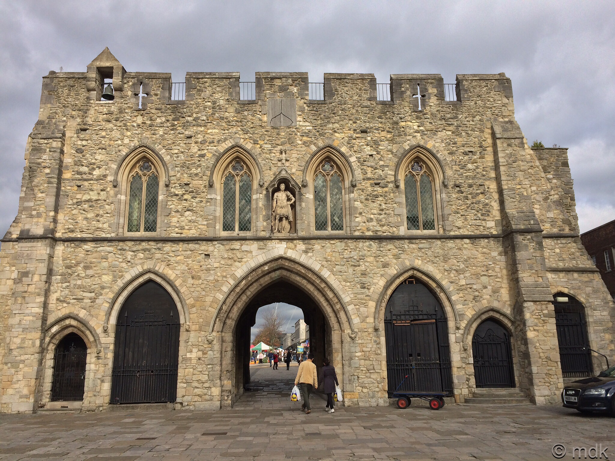 The Bargate from inside the old town