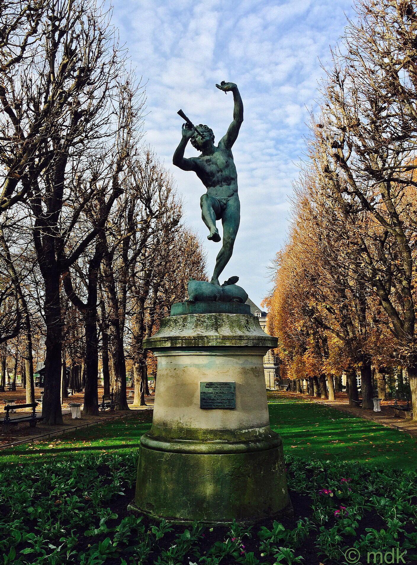 Dancing faun bronze by Eugène Louis Lequesne