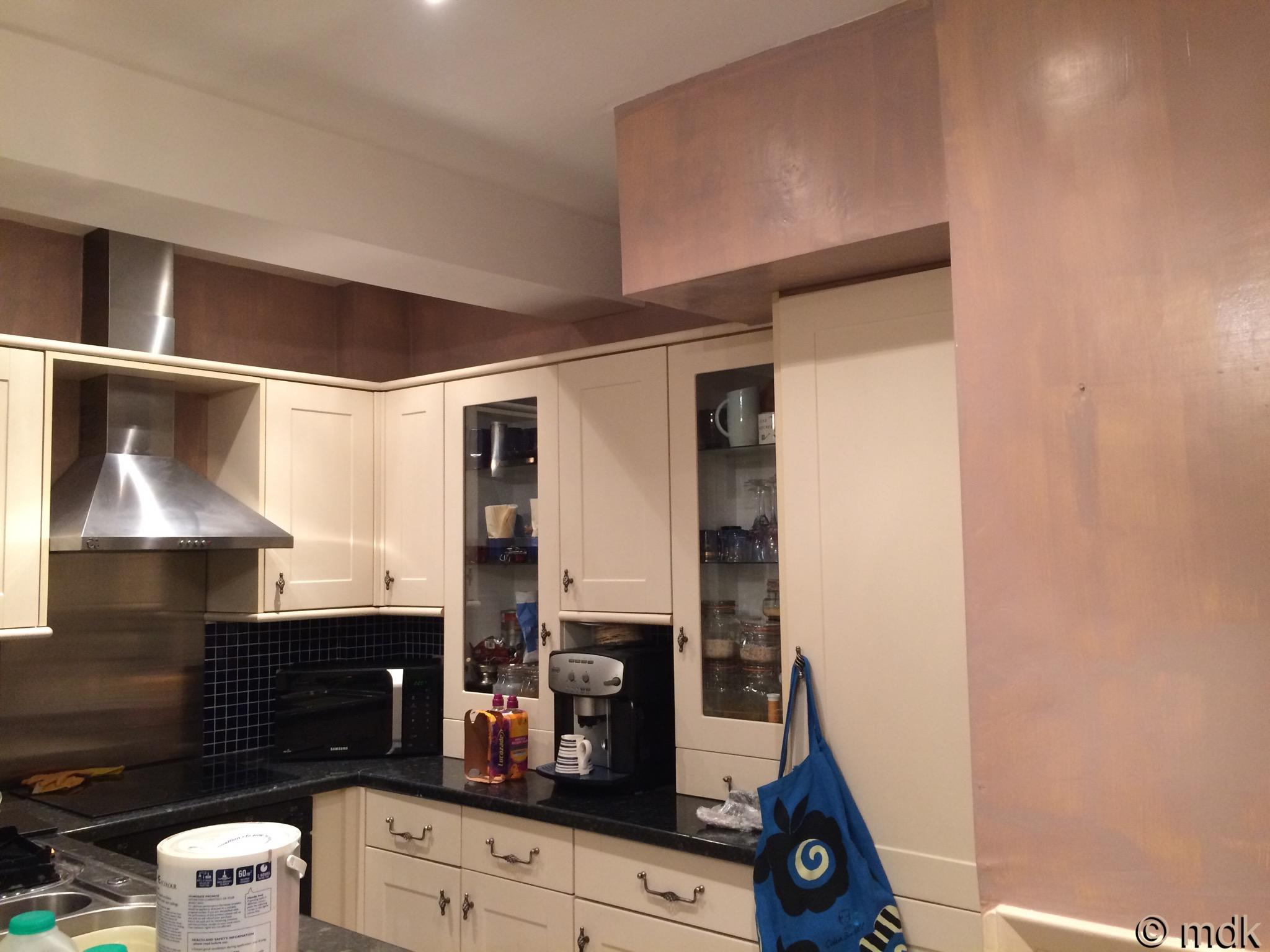 Suddenly a big kitchen doesn't seem like a good idea!