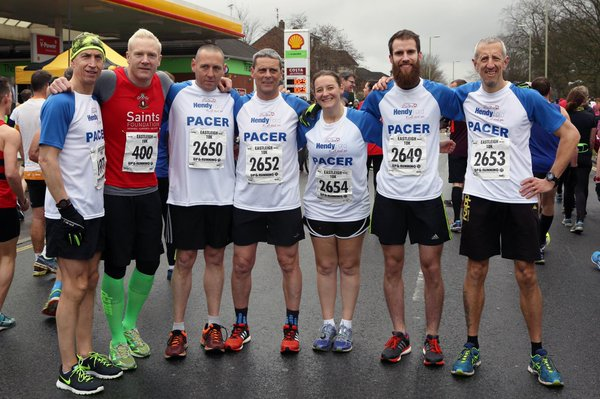 Official pacer team photo. This is what mine would have been like if I could run!