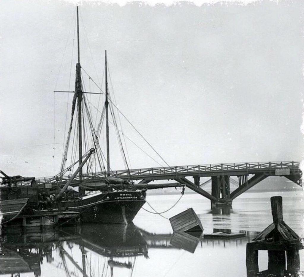 The second, iron bridge